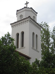 The Belfry of Saint Roch's Roman Catholic Church - Burke Road, Glen Iris (raaen99) Tags: saintrochsromancatholicchurch saintrochromancatholicchurch saintrochs saintrochsgleniris saintrochscatholicchurch romancatholicchurch catholicchurch catholic glenirischurch gleniris burkeroad burkerd church placeofworship religion religiousbuilding religious melbourne melbournearchitecture 1930s 1938 twentiethcentury 20thcentury victoria australia spanishmissionarchitecture spanishmissionecclesiasticalarchitecture spanishmissionchurch spanishmission interwarchurch interwararchitecture spanishmissionbuilding interwar interwarspanishmission architecturallydesigned patrickjosephoconnor patrickoconnor stuccoedbrick stucco brick architecture building window tile belfry spire tower lancet lancetwindow buttress