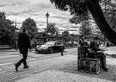 Three levels of technology (norm_p) Tags: porsche 911 turbo porsche911turbo djimavic dji mavic drone mobilephone cellphone technology street akaroa nz newzealand mono bw