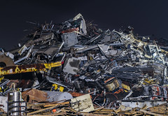 miscellaneous recycle pile (pbo31) Tags: eastbay alamedacounty bayarea nikon d810 color night dark november 2018 boury pbo31 sanleandro garbage recycle metal iron pile steel alco stack pattern industrial trash salvage auto parts scrap