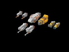 Homeworld warships (1) (kylerjadams) Tags: destroyer cruiser space lego hiigaran taiidan kushan homeworld