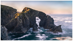 Golden Light at Stac a' Phris (ShaunXVII) Tags: stac phris stacaphris west coast isle lewis outerhebrides western isles atlantic seascape landscapes landscape nikon leefilters longexposure scotland scottishislands sunset twilight westside rockface seaarch