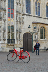 A red bicycle on stone road (phuong.sg@gmail.com) Tags: belgian ancient antique architecture beautiful belgium bicycle bike building city culture destination downtown europe european exterior famous ghent heritage historic historical history house landmark modern old sightseeing stone tourism town traditional transport transportation travel vacation wall yellow