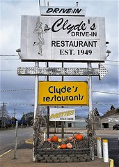 MI, Manistique-Clyde's Drive In Sign