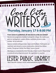 Cool City Writers (Lester Public Library) Tags: 365libs lesterpubliclibrary librariesandlibrarians lpl library lesterpubliclibrarytworiverswisconsin libraries libslibs publiclibrary publiclibraries tworiverswisconsin writers writersclub libraryprogram libraryprograms wisconsinlibraries readdiscoverconnectenrich