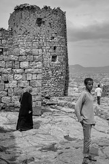 Bait Baws (Rod Waddington) Tags: middle east yemen yemeni village jewish bait baws blackandwhite monochrome mono stone streetphotography street sanaa new rock architecture buildings building traditional tribe tribal people woman men