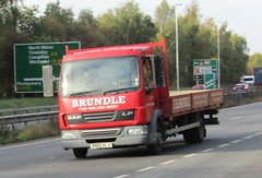 F H Brudle PO12 XLJ on the A5 at Shrewsbury (Joshhowells27) Tags: lorry truck daf lf daflf fhbrundle po12xlj