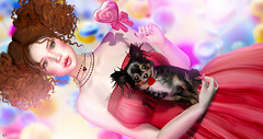 Candy doll (meriluu17) Tags: cupid cupidinc doll dolly cute kawaii sweet closeup portrait gem gems chihuahua dogggy pet animal heart lollipop candy candies sweets
