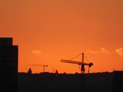 The sun has set (seikinsou) Tags: brussels belgium bruxelles belgique summer midsummer dusk skyline sky cloud series sunset crane