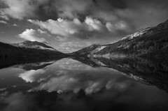 Beautiful Loch Eck (Mono) (GOR44Photographic@Gmail.com) Tags: mono bw scotland argyll gor44 hills highlands mountains pantax water reflection k50 cloud loch eck 1645mmf4 monoscotland