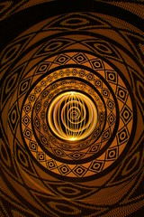 Culvert 2129 (- Hob -) Tags: lightpainting longexposure singleexposure orb spiral addressable led frankenstick culvert underground tunnel airraidshelter yellow brown sooc nophotoshop nopostprocessing 2129