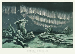 Aurora Borealis in High Latitudes from the book William MacKenzie's National Encyclopedia (1891), a colored illustration of the beautiful polar lights in the night sky. Digitally enhanced from our own original plate. (Free Public Domain Illustrations by rawpixel) Tags: 1891 ancient antique art astral astrology astronomical astronomy aurora auroraborealis beautiful borealis celestial chromolithograph cosmology cosmos decor decoration discovery drawing encyclopedia galactic galaxy happening high highlatitudes homedecor illustrated illustration latitude lights lithograph mackenzie magical national natural nature night northern old phenomena plate polar print printed retro science scientific sky solar solarsystem stars vintage walldecor william williammackenzie