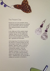 Museum Placard: History of Present-Day Jewelry (Suni Lynn Lee) Tags: ulster museum belfast art history jewelry