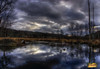 Brooding Sky (* Gemini-6 *) Tags: sky clouds water stream dramatic mood nature trees reflection autumn landscape wideangle