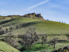 Hilly Countryside (davidseibold) Tags: america california cloud grass jfflickr kerncounty photosbydavid plant postedonflickr postedonmewe rancheriaroad rock sky tree unitedstates usa bakersfield