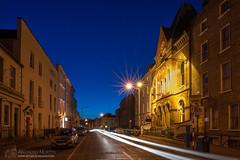Laurence Street, Drogheda (mythicalireland) Tags: blue hour twilight drogheda louth street landscape streescape long exposure light trails