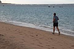 Morning Jogger (ALOHA de HAWAII) Tags: alamoanabeachpark