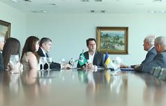 Visita do Embaixador da Ucrânia - Rostyslav Tronenko