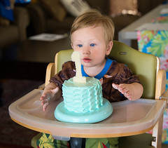 One. (thinduck42) Tags: child grandson family toddler a7iii sony tamron tamron2875mm portrait birthday cake naturallight