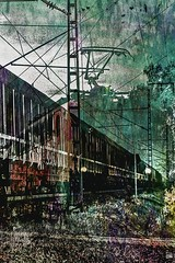 Train - Zug (b_kohnert) Tags: wagon railway train texture painting digitalpainting digitalart digiart