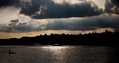 River (ŁoneWolf) Tags: river boat sunlight cloud landscape lonely boatman