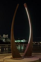 PB082049 (Copy) (pandjt) Tags: ontario ottawa urbanphotography nightphotography walkabout ramble sculpture publicart dialogue florentcousineau parliamenthill