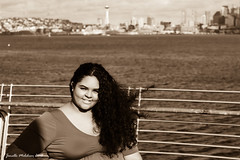 Senior Photo 11/10/18 No 25 (jenelle.melchior) Tags: girl sepia monochrome model person seattle city landscape water ocean sea beach portrait