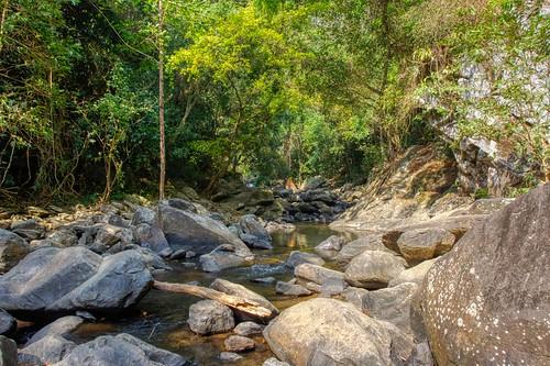 Pala-U waterfall in Kaeng Krachan National Park in Prachuap Khiri Khan province near Hua Hin, Thailand