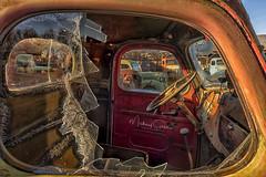 Air-conditioned (NikonDigifan) Tags: oldtrucks davesoldtrucks spraguewashington truck trucks vintage vintagetrucks patina rust corroded dilapidated old nikond750 niksoftware nikon28300 mikegassphotography