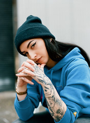 Sam X Aten (Cameron Oates [IG: ccameronoates]) Tags: 120 film aten hypebae tattoos street wear style photography kodak portra 400