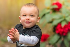 Happy Boy (CaseyCsaszar) Tags: kid kids child children cute sweet face cheeks baby babies birthday party outdoor portrait naturallight real color happy smile handsome
