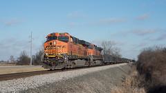BNSF7392OttawaOH12-30-18 (railohio) Tags: csx bnsf trains ottawa ohio d750 123018 es44dc