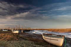16:07 Morston (andybam1955) Tags: morstonquay quay landscape nationaltrust morston clouds coastal autumncolour sky northnorfolk boats rural norfolk sea