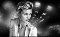(horlo) Tags: portrait bw blackandwhite noiretblanc film movies cinema actress nb wallpaper fonddécran glamour actrice monochrome vintage woman femme anjarubik