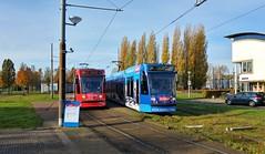 Primary Colors: Red & Blue (Peter ( phonepics only) Eijkman) Tags: amsterdam city combino gvb tram transport trams tramtracks terminus eindpunt rail rails streetcars strassenbahn nederland netherlands nederlandse noordholland holland