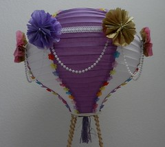 Hot Air balloon diaper cake (Thong Bartlett) Tags: lantern babyshower hotairballoon diapercake beads tissuepaperflower lace
