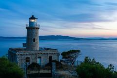 Lighthouse #2 (grgppmchl) Tags: lighthouse salamina salamis samyang12mm20 sea sky rocks longexposure bluehour