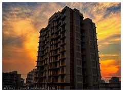 Sky is more colourful.. (Meraj.) Tags: maharashtra marvellous lovely stunning sunny bluesky view tower house home apartment outdoor india beautiful colours nature flight buildings mumbai sunset bluehour blue appleiphone6s iphone camera digitalphotography photography sky