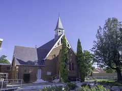 St Augustine's Anglican Church, Inverell NSW, built 1878 - see below (Paul Leader - Paulie's Time Off Photography) Tags: anglicanchurch church heritagelisted inverellnsw olympus olympusomdem10 paulleader architecture oldbuilding building heritagebuilding god christian christianity saviour savior faith bell belltower nsw newsouthwales australia