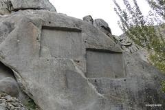 Ganjnameh Inscriptions of Darius and Xerxes, Hamadan  (2).JPG (tobeytravels) Tags: alvand granite oldpersian neobabylonian neoelamite cuneiform treasureepistle jangnameh ahuramazda hamedān assyrian medes achaemenid sassanian buwayhids