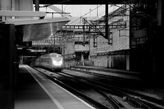 London (sgreen757) Tags: london transport station street black white 2018 train stratford international eurostar e320
