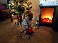 (claudine6677) Tags: bjd yosd ball jointed doll asian dolls dim winny xmas christmas lights puppe sammlerpuppen
