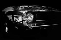 Shelby Cobra GT 350 1970 (BartvanDam) Tags: shelby cobra classic car oldtimer headlight 350 gt ricohgr classiccar automotive portrait americain sports blackwhite bw fineart monochrome seventies 1970 musclecar auto usa