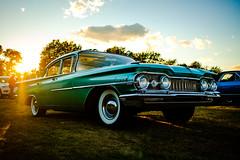 The Dynamic 88 (Nicholas Erwin) Tags: car vehicle classiccar automobile oldsmobile dynamic88 contrast goldenhour sunflare sunset americana green sunsetdrivein carshow autoshow whitewalls fujifilmxt2 fujixt2 xf23mmf2 xf23mmf2rwr cholchester vermont vt unitedstatesofamerica usa america fav10 fav25