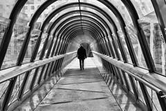 Tunnel (erichudson78) Tags: france iledefrance hautsdeseine ladéfense architecture noiretblanc blackandwhite canoneos6d canonef24105mmf4lisusm perspective géométrie loneliness sliderssunday hss silhouette