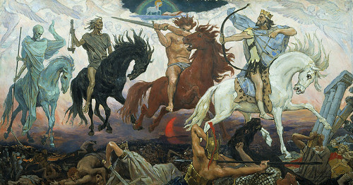 Vasnetsov Viktor- Four Horsemen of the Apocalypse (1887), From FlickrPhotos