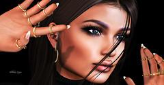 #166 portrait (dolceluna_myoo Photographer) Tags: heart earring jewels catwa maitreya closeup image blogger secondlife sl