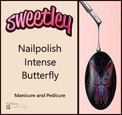 Sweetley - Nailpolish Intense Butterfly add (Sweetley SL) Tags: sweetley nailspolish manicure pedicure sl secondlife avatar 3dworld butterfly mesh maitreya bento hud style fun cute newrelease marketplace mainstore copyright