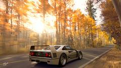 Autum (ElementoMagico) Tags: ferrari f40 silver autum gran turismo gt sport ps4