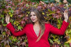 Feeling good in autumn (piotr_szymanek) Tags: kornelia korneliaw woman young skinny portrait outdoor face blonde longhair flowers autumn