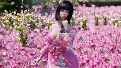 Cherry Blossoms (Kurosaki Mea) Tags: skyrimkurosakimea skyrim kurosaki mea cangloongcity kimono yukata cherryblossoms